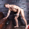Naked male workout