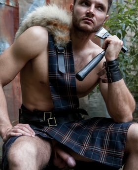 Naked men kilts under You are