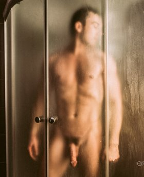 Hot man in the shower - posing and showing his best