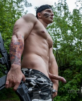 Military muscle gay strip