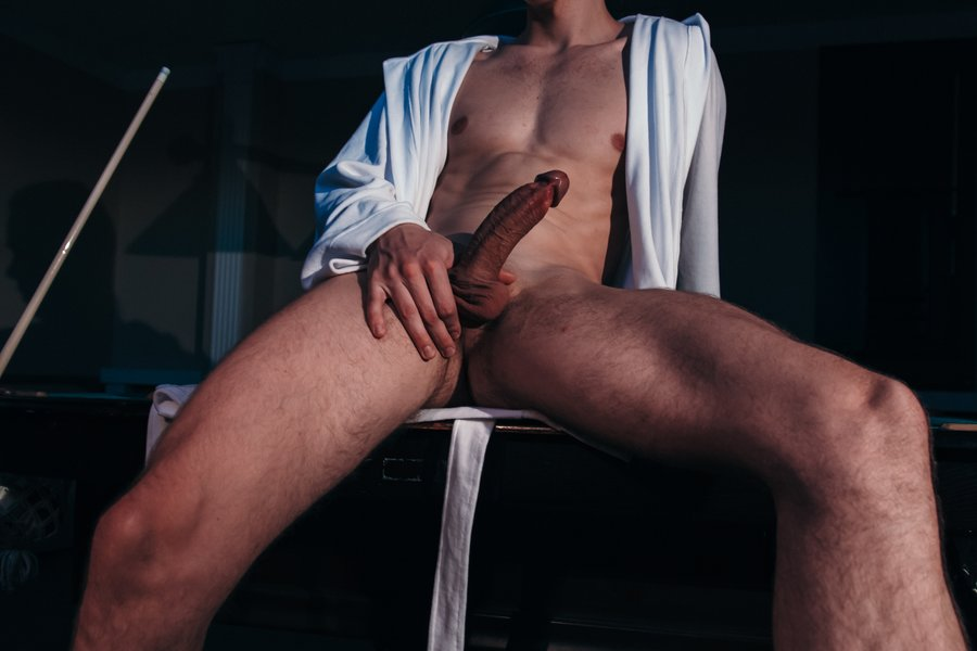 Long dick guy in bathrobe