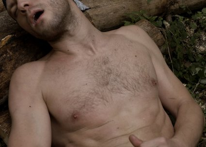 Huge gay cum shot and male face during orgasm in brutal history