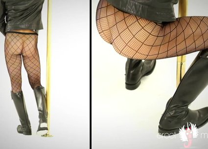 Woman or man in tights?