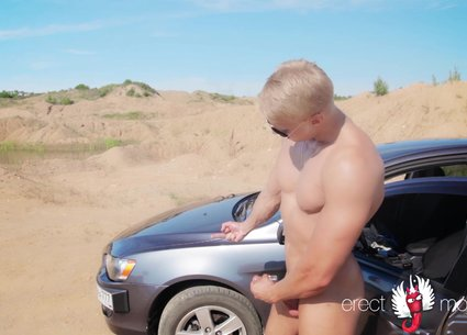 Cute guy with massive cock video