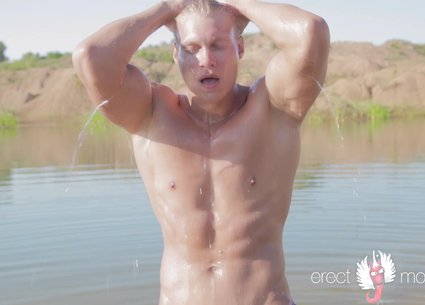 Hot wet man masterbating video