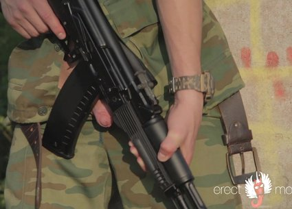 Hot military gay solo video