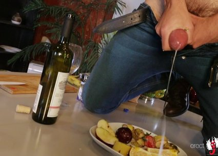 Male cum shot or cream as fruit salad dressing?
