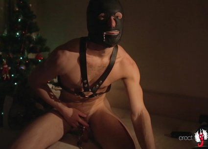 Solo guy masturbation in bdsm gay video
