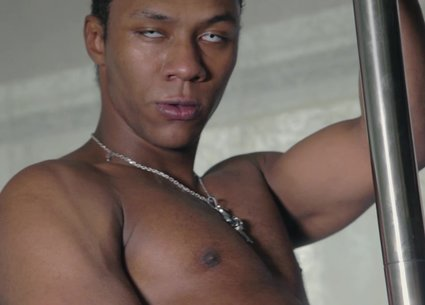 Black gay stripper video with brutal guy