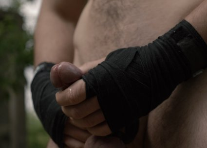 Cock and ball strap - best accessory for naked men boxing