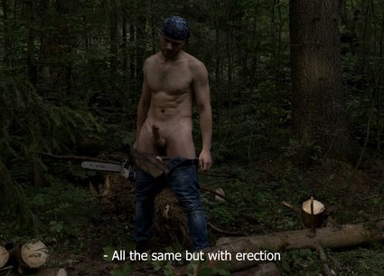Backstage gay brutal xxx shooting in the forest
