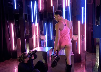 Gay porn photoshoot ended with great cum shot video