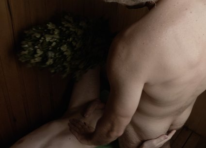 Gay porn real couple massage and male mutual handjob in the sauna